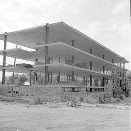 Goshen College. Construction of the new nurses dormitory