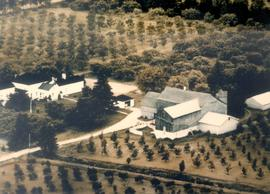 Aerial view of Culp Farm after it had been