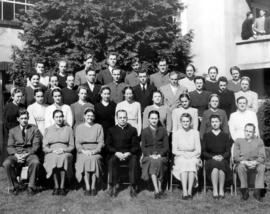 Semi-formal photograph of a large group of people