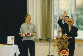 Family Day pie auction at Conrad Grebel College