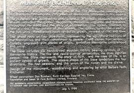 Plaque regarding Bicentennial Memorial at