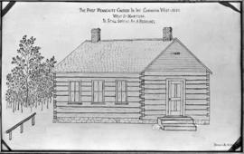 Copy of drawing of the 1896 First Mennonite