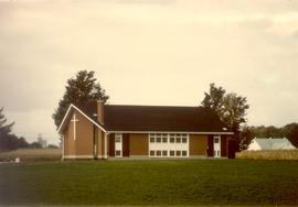 Colour photograph.  New Hamburg's Biehn Mennonite