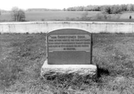 Memorial Stone for Christopher Dock in Lower