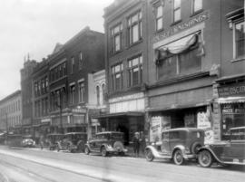 A view of the north side of King Street, Kitchener