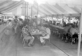 Interior of food tent at Bicentennial Festival,
