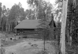 A log cabin in Northern Ontario