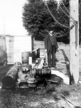 Abram M. Bowman at the Elmira Public Utilities