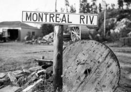 Montreal River sign