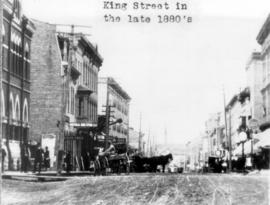View of King Street in the late 1880's.  Used in
