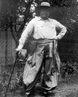Amos Swartzentruber in gaucho clothing