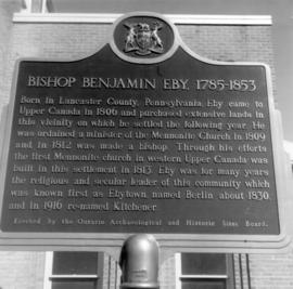 (3 copies) Plaque commemorating Bishop Benjamin