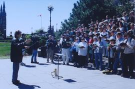 Mennonite choir on Parliment Hill