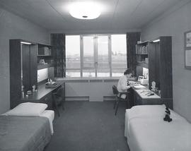 A residence room at Conrad Grebel College in the