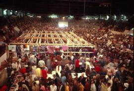 Crowds at the New Hamburg arena for the Ontario Mennonite Relief Sale, 1974