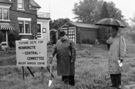 Copy of the groundbreaking for Mennonite Central Committee building on Kent Avenue, Kitchener, On...