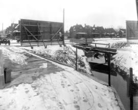 A view of Schneider Creek before it was covered.
