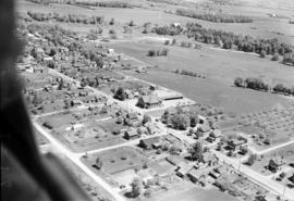 Aerial view of St. Jacobs Mennonite in the 1950s