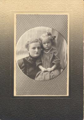 Portrait of Lutheran pastor's daughter and Letkeman child