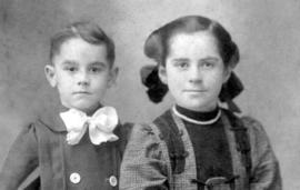 L-R: Delton Snyder; Lillian Snyder, children of