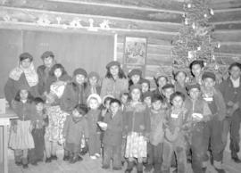 Group of children at Christmas time