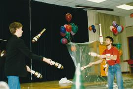Student jugglers performing during a 25th