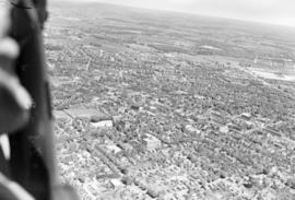 Aerial view of Kitchener, Ontario, during the