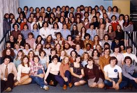 Conrad Grebel College residence students, ca. 1977