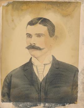 A portrait of John Wray, husband of Lydia Ann Eby