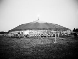 Backview of the tent at the Brunk Revival