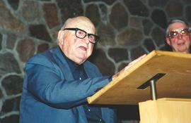 George R. Brunk II speaking at Grebel