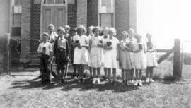 Summer Bible School at Glasgow, Ontario, 1939.