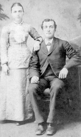 Wedding photo of Susannah Brubacher and Peter M.