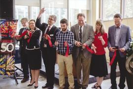 Ribbon cutting for Conrad Grebel University College addition