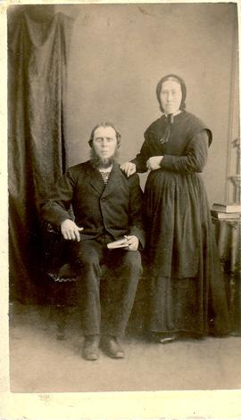 Henry B. Cassel and Mary Ann Bricker Cassel ca