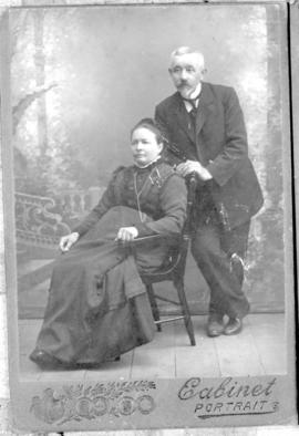 Formal portrait of a Russian Mennonite couple