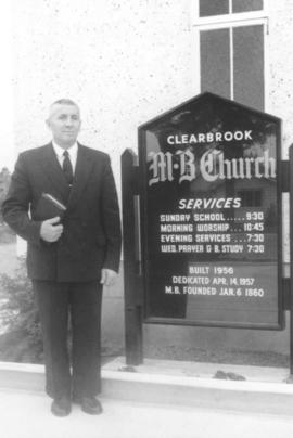 A.H. Konrad at Clearbrook Mennonite Brethren Church