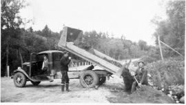 Road construction near Montreal River Alternative Service Work Camp, 1941