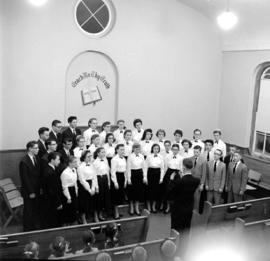 Junior chorus for Rockway Mennonite School in 1958