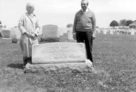 Doug and Anne Millar at a Clemens family grave