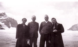 J.C. Fretz with his wife Martha (on far left)