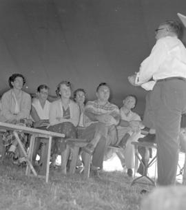 A chapel service at an unknown camp.  Not found