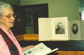 A visitor to the Mennonite Archives of Ontario