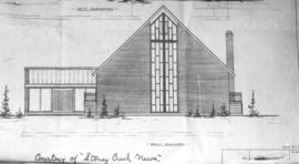 Front elevation from blue print, showing the Stoney Creek Mennonite Brethren Church (Hamilton, On...