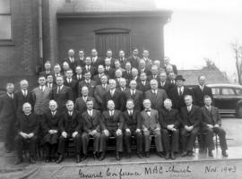 Formal photograph of delegates at the General