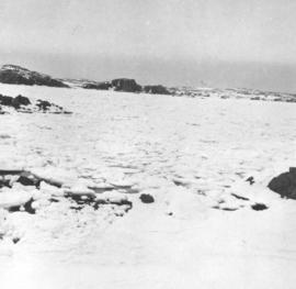 A typical winter scene of the northern coast of Nfld