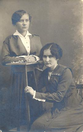 Portrait of Sarah Andres and Margarethe Kroeger
