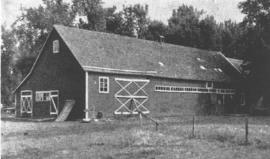 A traditional shed, barn and dwelling place in a