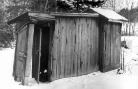 """Back House"" - privy on right end.  An elongated"