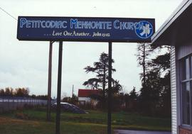 Petitcodiac Mennonite Church sign